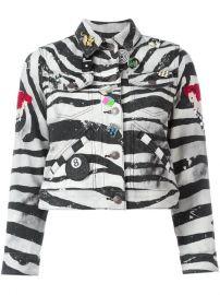 Marc Jacobs Zebra Print Shrunken Jacket at Farfetch