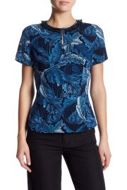 Marc by Marc Jacobs   Printed Peplum Blouse   Nordstrom Rack at Nordstrom Rack