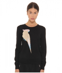 Marc by Marc Jacobs Betty Birdie Sweater Black Multi at Zappos