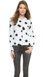 Marc by Marc Jacobs Blurred Dot Print Cardigan at Shopbop