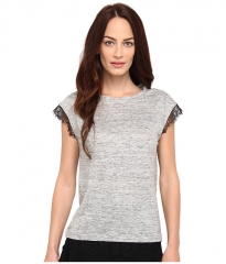 Marc by Marc Jacobs Carmen Jersey Top Grey Melange at Zappos