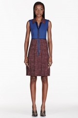 Marc by Marc Jacobs Polka Dot pleated dress at SSENSE
