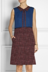 Marc by Marc Jacobs Printed Wool Twill Dress at Net A Porter