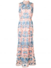 Marchesa Notte floral dress at Farfetch