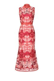 Marchesa Notte Butterfly Lace Midi Dress at Rent The Runway