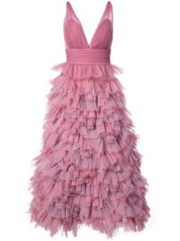 Marchesa Notte Ruffled A-line Gown at Farfetch