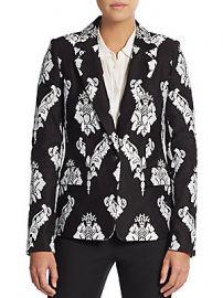 Marchesa Voyage Embroidered Cotton Blazer at Saks Off 5th