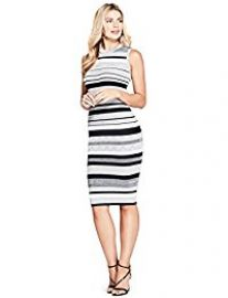 Marciano Felice Striped Sweater Dress at Amazon