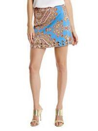 Marciano Womenand39s Paz Paisley Miniskirt at Amazon