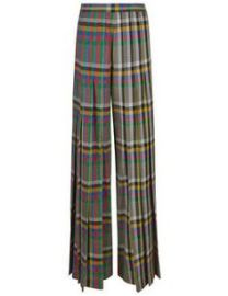 Marco de Vincenzo Multi Check Pleated High Waisted Trousers at Farfetch