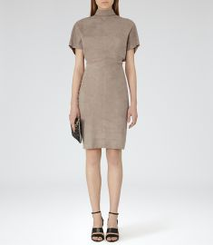 Margeaux Suede Dress at Reiss