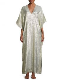 Marie France Van Damme Bright Boubou Caftan  Gold at Neiman Marcus