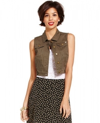 Marilyn Monroe Juniors Vest Cropped Denim - Juniors Jackets and Coats - Macys at Macys
