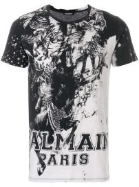 Mariniere Print T-shirt  Balmain at Farfetch