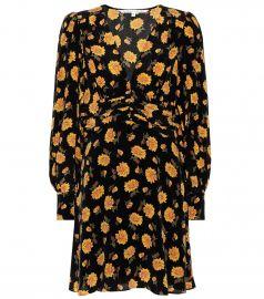 Marion printed silk minidress at Mytheresa