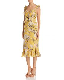 Marissa Ruffled Floral Midi Dress at Bloomingdales
