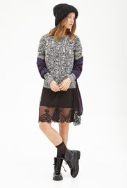 Marled Cable Knit Sweater at Forever 21