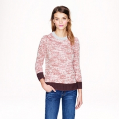 Marled Colorblock Sweater at J. Crew