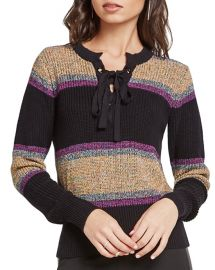 Marled Rainbow Stripe Sweater at Bloomingdales