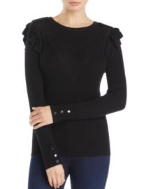 Marled Ruffle Sweater - 100  Exclusive at Bloomingdales