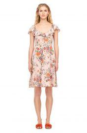Marlena Floral Silk Ruffle Dress at Rebecca Taylor