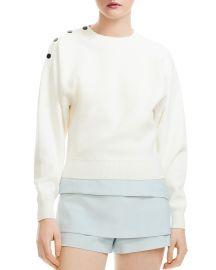 Marlina Cropped Shoulder-Snap Sweater at Bloomingdales