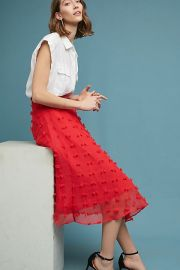Marlow Textured Skirt at Anthropologie