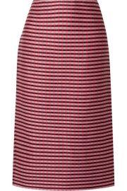 Marni - Checked woven midi skirt at Net A Porter
