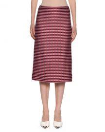 Marni Checked-Knit Midi Pencil Skirt at Neiman Marcus