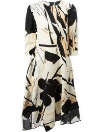 Marni Floral Print Asymmetric Dress - at Farfetch