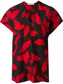Marni Leaf Print Top - Smets at Farfetch