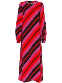 Marni Stripe Print Long Sleeve Mid-length Dress - Farfetch at Farfetch