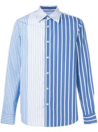 Marni Striped Panel Shirt at Farfetch