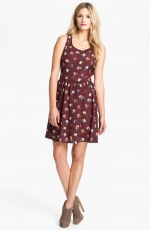Maroon floral dress like Lemons at Nordstrom