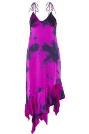 Marques  Almeida   Tie-dyed asymmetric silk-satin dress at Net A Porter