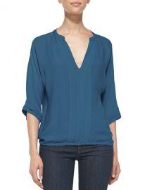 Marru Pintuck-Front Silk Blouse  Joie at Bergdorf Goodman