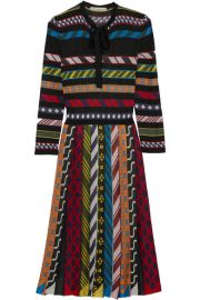 Mary Katrantzou   Faye striped jacquard-knit dress at Net A Porter