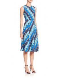 Mary Katrantzou - Osmond Lion Striped Dress at Saks Fifth Avenue