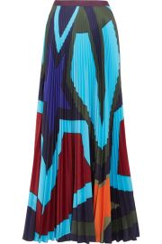 Mary Katrantzou   Pelar pleated printed crepe de chine maxi skirt at Net A Porter