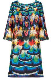 Mary Katrantzou   Shea printed silk-faille dress at Net A Porter