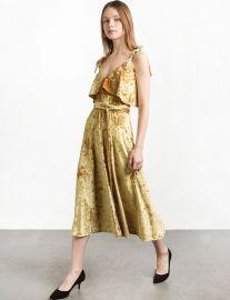 Marygold Velvet Shoulder Tie Slip Dress by Pixie Market at Pixie Market