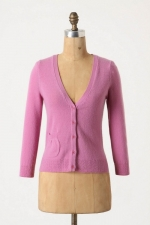Mary's pink cardigan from Anthropologie at Anthropologie