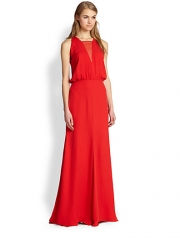 Mason by Michelle Mason - Chiffon Inset Gown at Saks Fifth Avenue