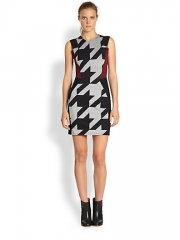 Mason by Michelle Mason - Houndstooth Combo Tank Dress at Saks Fifth Avenue