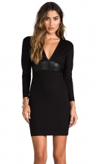 Mason by Michelle Mason Leather Belt Dress in Black  REVOLVE at Revolve