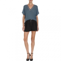 Mason by Michelle Mason Sheer Panel Top at Barneys