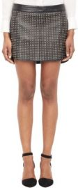 Mason by Michelle Mason Studded Lambskin Mini Skirt at Barneys