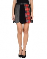 Matchwork skirt by Moschino at Yoox