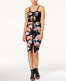 Material Girl Juniors  Printed Bodycon Dress  Only at Macy s at Macys