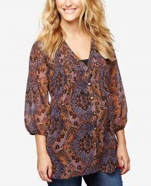 Maternity Printed Blouse at Macys